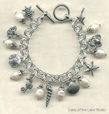 jewelry sterling charm bracelet images Unique ocean themed designer charm bracelets giant pearl and jpg