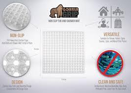 Bath And Shower Store Amazon Com Gorilla Grip Square 21 Inch By 21 Inch Non Slip