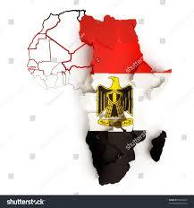 Egypts Flag Egyptian Flag On Map Africa National Stock Illustration 52306549
