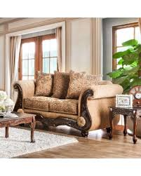 Chenille Sofa And Loveseat Great Deal On Ersa Traditional Wood Trim Chenille Fabric Gold