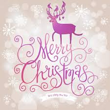 merry christmas modern stylish merry christmas card in modern violet colors stock