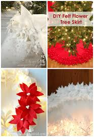 felt poinsettia decorations happiness is