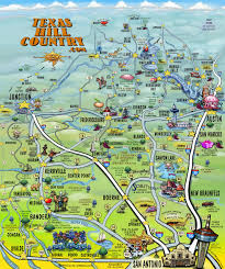 Road Map Of Texas The Texas Hill Country Map