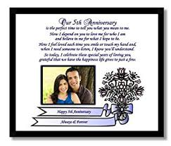 fifth wedding anniversary gifts traditional 5th wedding anniversary gift for or