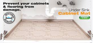 Liners For Kitchen Cabinets by Xtreme Mats Under Sink Cabinet Mats And Water Sensors