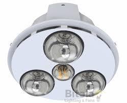 new mercator spectra trio led round bathroom 3 in 1 heater light