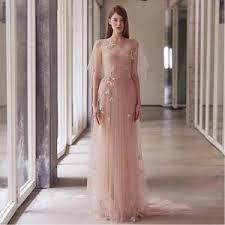wedding dress nz chagne simple slash neck embroidery wedding dress nz bridal