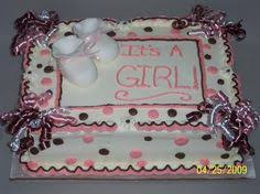 baby shower cake for a boy sheet cake with buttercream icing and