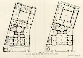 the floor plans of the hotel du prince bonaparte paris