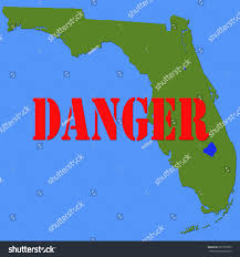 A Map Of Florida Florida Faces Strange Troubling Flesh Eating Stock Illustration