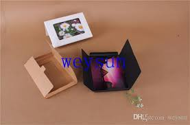 dhl foldable postcard packaging boxes photo window boxes greeting