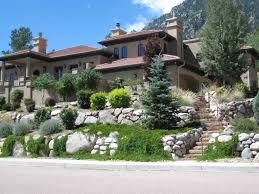 Boulder Landscaping Ideas Broadmoor Boulder Retaining Walls Fredell Enterprises