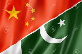 Oakistan Flag Mixed China And Pakistan Flag Three Dimensional Render