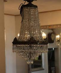 Basket Chandeliers Stephens Antique Waterfall And Basket Chandelier Remarkable