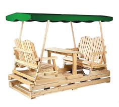 Swings And Gliders Patio Furniture by Amazon Com Cedarlooks 0800800 Deluxe Glider Green Top Gliders