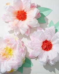 tissue paper flowers splattered tissue paper flowers martha stewart