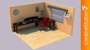 3d Room Isometric Gaming Room 3d Speed Art Cinema4d Creativestation