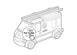 lego fire engine coloring kids printable free lego