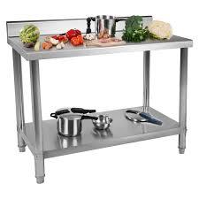 Kleiner Arbeitstisch Edelstahl Gastro Arbeitstisch Tisch Edelstahltisch Aufkantung