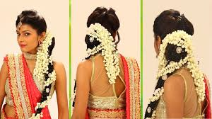 marriage bridal hairstyle indian bridal hairstyle step by step south indian bridal hair