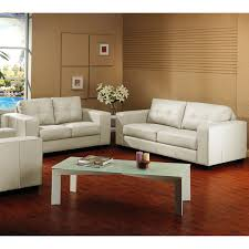 brown leather sofa and loveseat whitney modern ivory leather sofa and loveseat set overstock