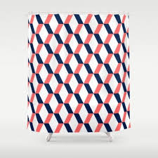 Navy And Coral Shower Curtain Navy Coral Shower Curtain Home Design Plan