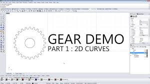 make a gear quickly and easily in rhino professor 3d