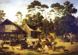file choctaw village by francois bernard jpg wikimedia commons