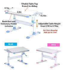 adjustable height kids table ergostudy g100 children ergonomic study table with adjustable