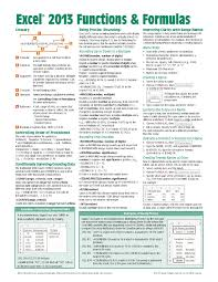 microsoft excel 2013 functions u0026 formulas quick reference card 4