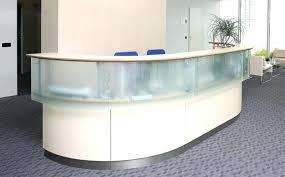 Reception Desk Curved Glass Reception Desk Illuminated Reception Desk Glass Block
