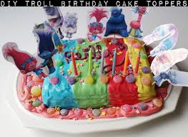 cake diy diy troll birthday cake toppers by confessions of a refashionista