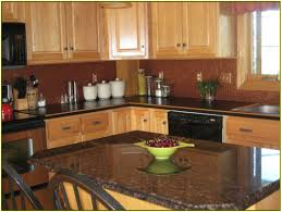 Kitchen Backsplash Ideas With Oak Cabinets Charming Oak Cabinets With Granite Countertops And Kitchen