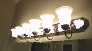 bathroom fixture light how to replace bathroom lighting youtube