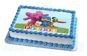 pocoyo cake toppers decopac pocoyo pato cake topper edible new party cake decoration