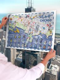 City Map Of Chicago by Attract China Published Mandarin Map Of Chicago Attract China