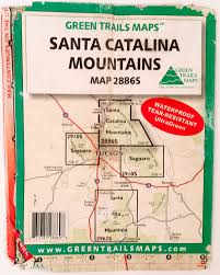 Tucson Arizona Map by Green Trails Santa Catalina Mountains Map Hike Lemmon