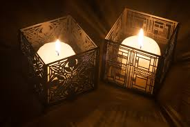 file two candles in frank lloyd wright designed cases 6522 jpg