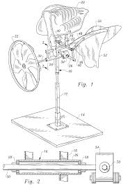 patent us6360474 wind powered apparatus including animated