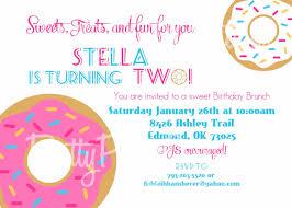birthday brunch invitation donut birthday shower brunch invitation you print any age
