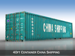 40ft shipping container china shipping 3d model obj 3ds fbx c4d