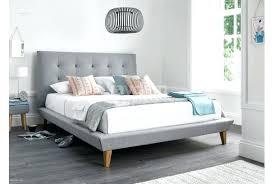 light grey upholstered bed light grey bed frame bed frame double light grey fabric light grey