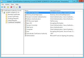 installing the root ca u0026 creating scom certificate template