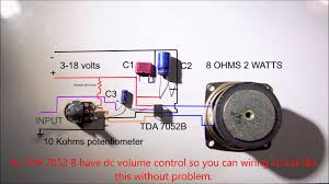 2 1 home theater circuit diagram 1 2 w amplifier tda7052 wiring diagram youtube