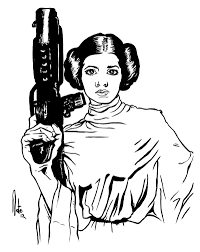 princess leia outline google search star wars pinterest