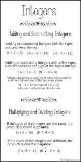 best 25 integers activities ideas on pinterest equation of