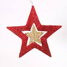 40cm size tree decoration small five pointed