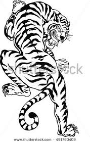 bengal tiger stock vector 491760409