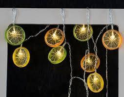 Outdoor Battery Operated Lights Vioslite 10 Led Outdoor Led Lights Colorful Lemon Slice