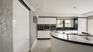 Designer Kitchen Doors On View Of The Gloss White Corian Designer Kitchen